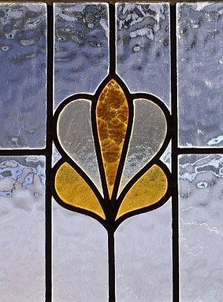 イギリス アンティーク ステンドグラス 幾何学 9259