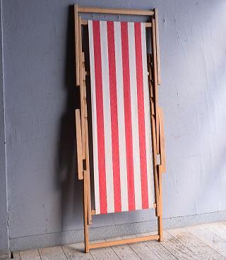 イギリス アンティーク フォールディングデッキチェア 椅子 9271