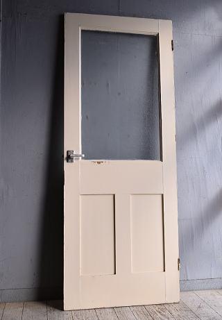 イギリス アンティーク ガラス入りドア 扉 建具 9276