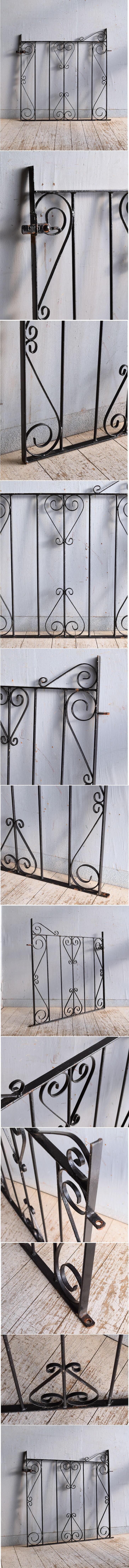 イギリスアンティーク アイアンフェンス ゲート柵 ガーデニング 9303