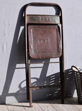 フレンチ アンティーク フォールディング アイアンチェア 椅子 9315