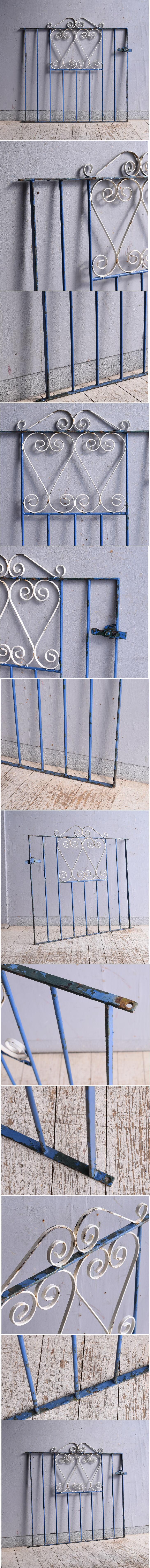 イギリスアンティーク アイアンフェンス ゲート柵 ガーデニング 9338