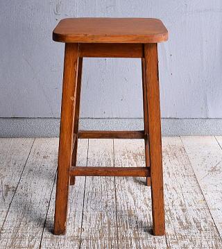 イギリス アンティーク家具 木製 スツール  椅子 9364