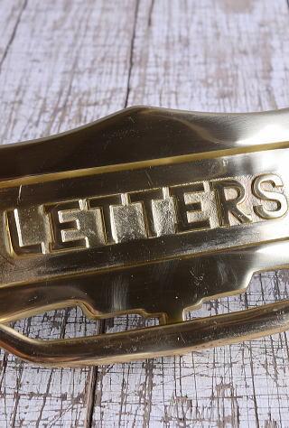 イギリス アンティーク レタースロット 郵便受け 建具金物 9414