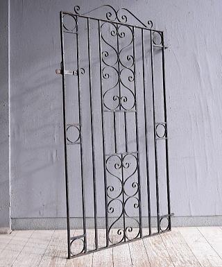 イギリス アンティーク アイアンフェンス ゲート柵 ガーデニング 9430