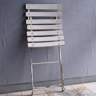 フレンチ アンティーク フォールディング ガーデンチェア 椅子 9486