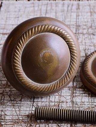 イギリス アンティーク 真鍮製ドアノブ 建具金物 取っ手 9495