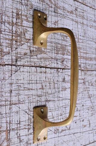 イギリス アンティーク 真鍮ハンドル 建具金物 取っ手 9502