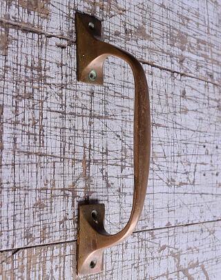 イギリス アンティーク 真鍮ハンドル 建具金物 取っ手 9503