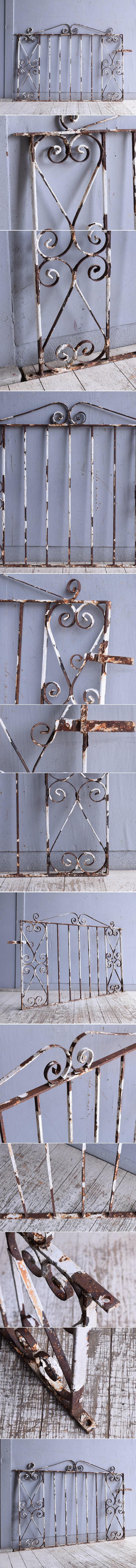 イギリスアンティーク アイアンフェンス ゲート柵 ガーデニング 9513