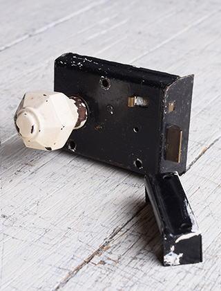 イギリス アンティーク ラッチ&ドアノブ 建具金物 9591