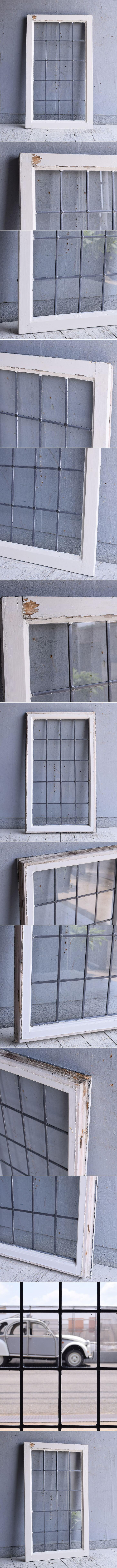 イギリス アンティーク 窓 無色透明 9594