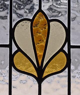 イギリス アンティーク ステンドグラス 幾何学 9600