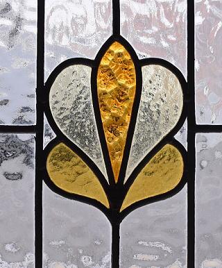 イギリス アンティーク ステンドグラス 幾何学 9602
