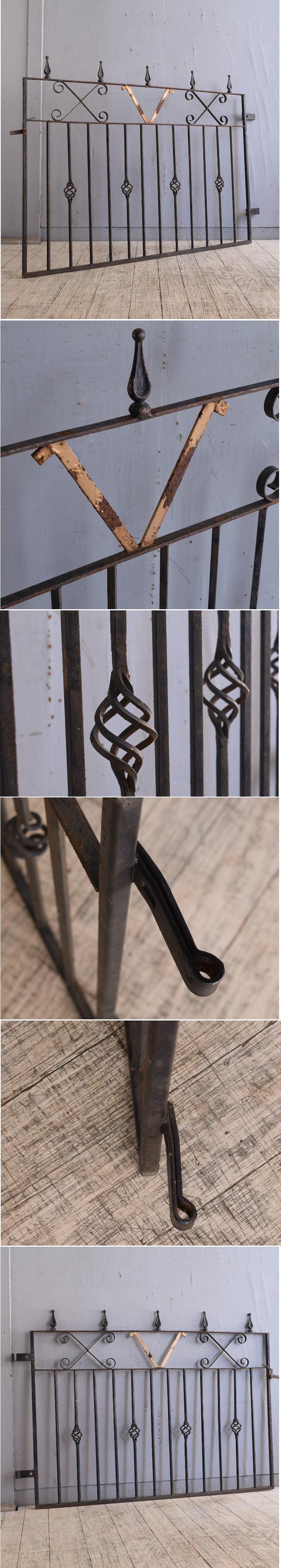 イギリス アンティーク アイアンフェンス ゲート柵 ガーデニング 9702