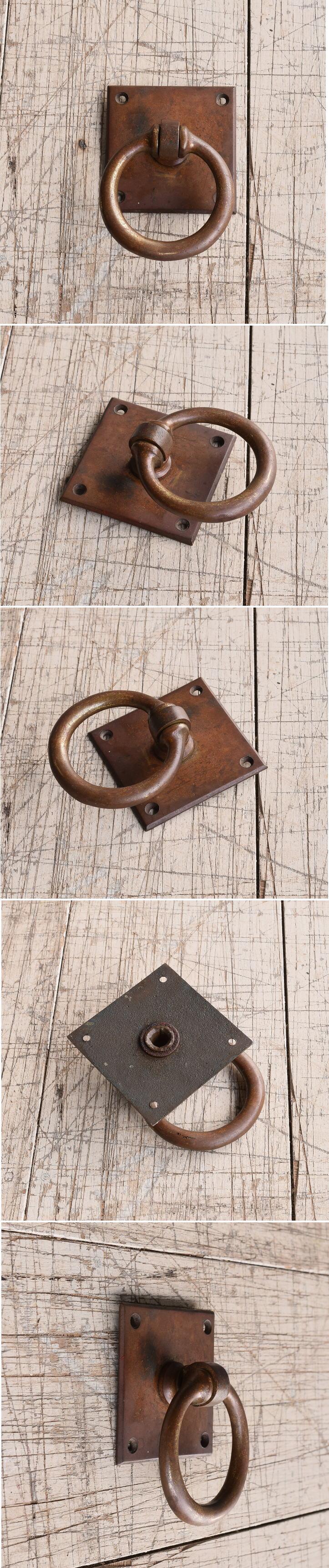 イギリス アンティーク 真鍮製 取っ手 丸釻 9792