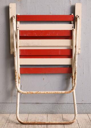 フレンチ アンティーク フォールディングデッキチェア 椅子 9799