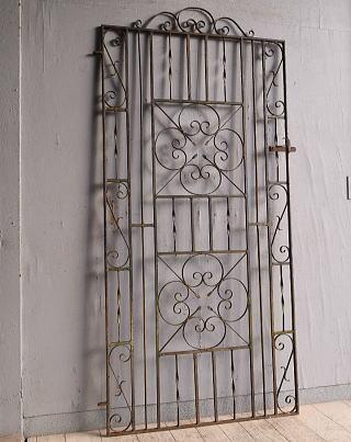 イギリス アンティーク アイアンフェンス ゲート柵 ガーデニング 9808