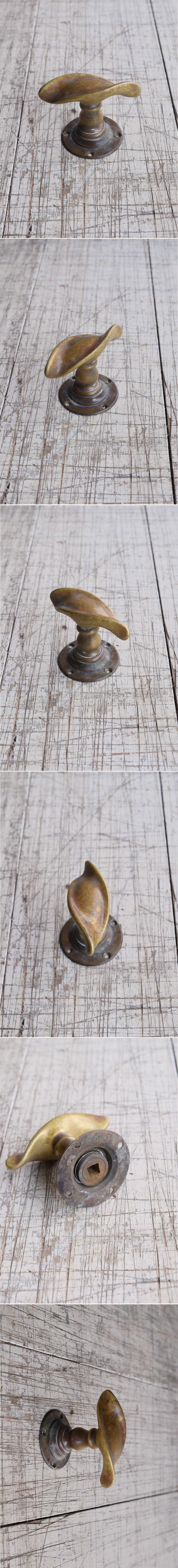 イギリス アンティーク 真鍮 ドアノブ 建具金物 握り玉 9833