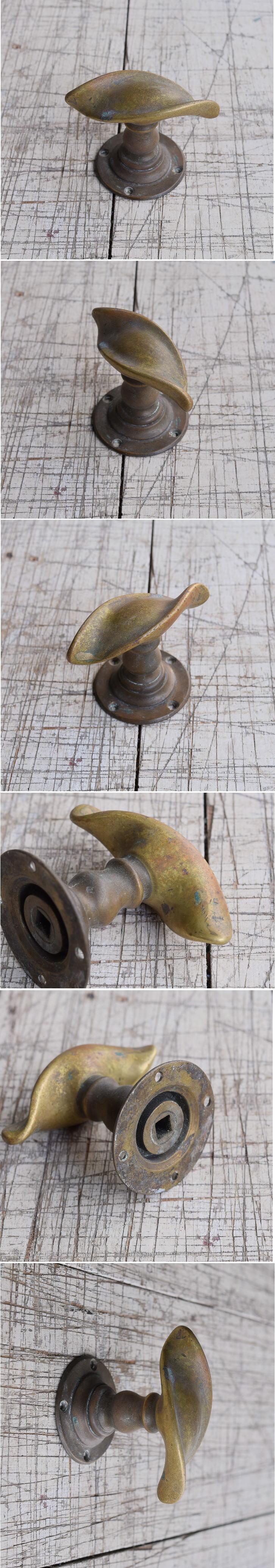 イギリス アンティーク 真鍮 ドアノブ 建具金物 握り玉 9835