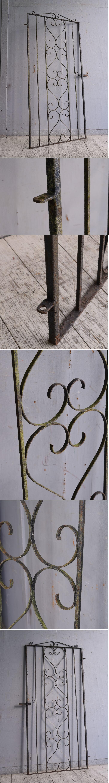イギリスアンティーク アイアンフェンス ゲート柵 ガーデニング 9859