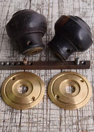 イギリス アンティーク 木製 ドアノブ 建具金物 握り玉 9931