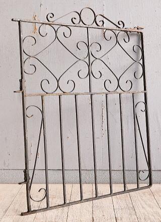 イギリス アンティーク アイアンフェンス ゲート柵 9936